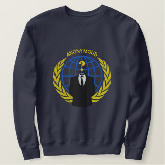 Cool Anonymous Logo Symbol Large embroidery Embroidered Sweatshirt