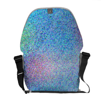 Cool Aqua Blue Abstract Pattern Commuter Bag