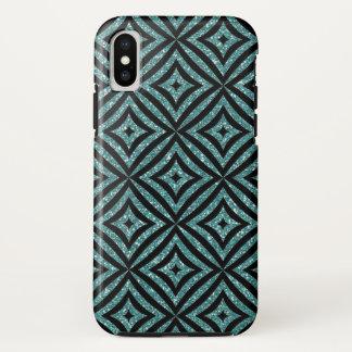 Cool Aqua Glitter Girly iPhone X, Tough Phone Case