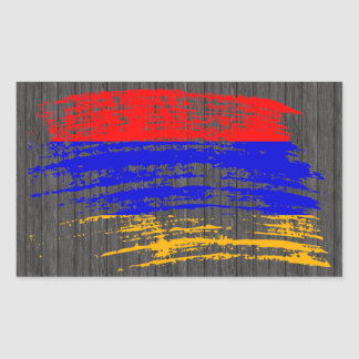 Cool Armenian flag design Rectangular Sticker
