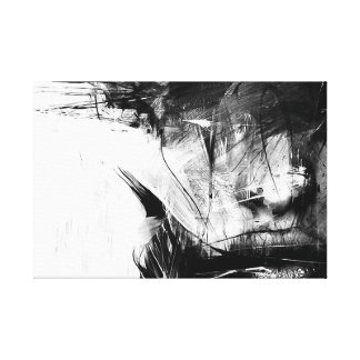 Cool Art Abstract Black White Face Woman Canvas Prints