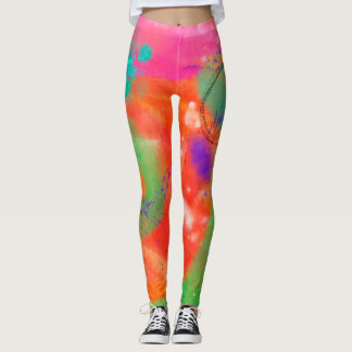 Cool Art Digital Painting Abstract All Over Print Leggings