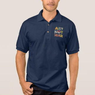 Cool Art Not War Famous Artists For Peace Funny Polo Shirt