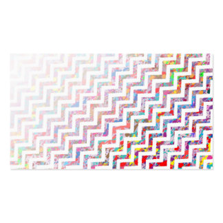 Cool, Artistic, Chevron Pattern Business Card