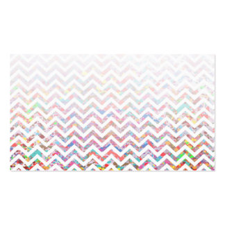 Cool, Artistic, Chevron Pattern Business Cards