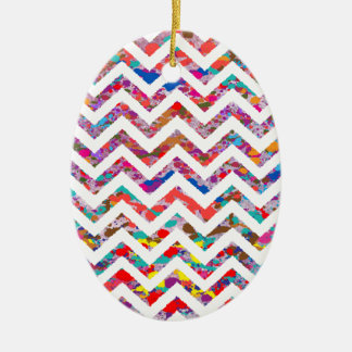 Cool, Artistic, Chevron Pattern Ceramic Oval Decoration