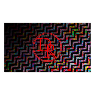 Cool, Artistic, Chevron Pattern with Monogram Business Card