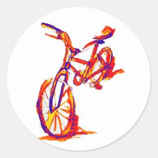 Cool Artistic Colorful Bike Designs Round Sticker