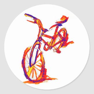 Cool Artistic Colorful Bike Designs Stickers