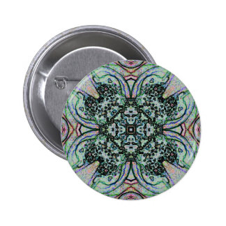 Cool Artistic Cross Shaped Pattern 6 Cm Round Badge