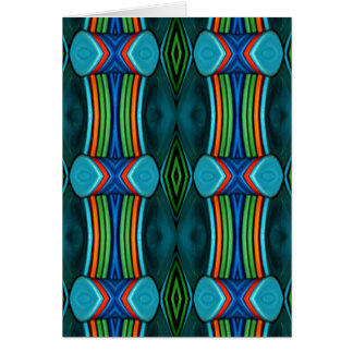 Cool Artistic Funky Symmetrical Pattern Card