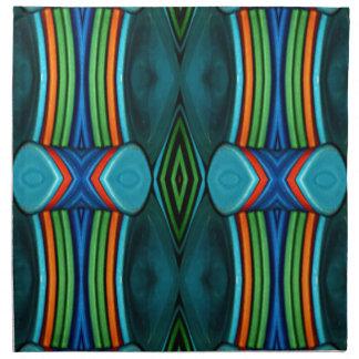 Cool Artistic Funky Symmetrical Pattern Napkin