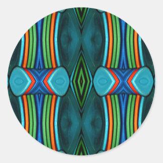 Cool Artistic Funky Symmetrical Pattern Round Sticker