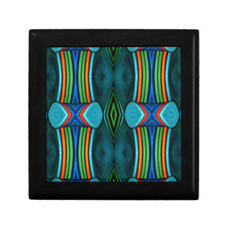 Cool Artistic Funky Symmetrical Pattern Small Square Gift Box