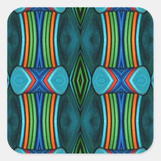Cool Artistic Funky Symmetrical Pattern Square Sticker