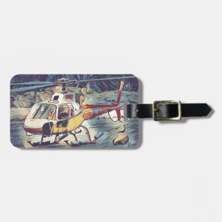 Cool Artistic Helicopter Luggage Tag