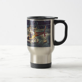 Cool Artistic Helicopter Travel Mug