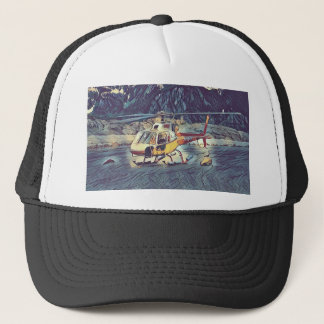 Cool Artistic Helicopter Trucker Hat