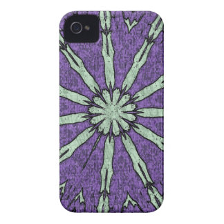 Cool Artistic Lavender Mint Mandala Pattern iPhone 4 Cover