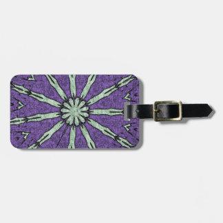 Cool Artistic Lavender Mint Mandala Pattern Luggage Tag