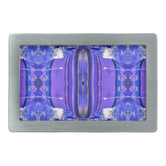 Cool Artistic Lavender Periwinkle Blue Pattern Belt Buckles