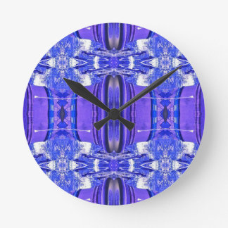 Cool Artistic Lavender Periwinkle Blue Pattern Round Clock