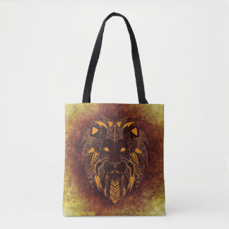 Cool Artistic Lion Tote Bag