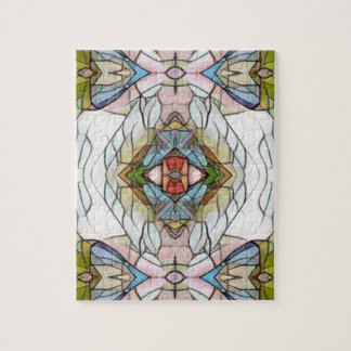 Cool Artistic Modern Stained Glass Pattern Jigsaw Puzzle