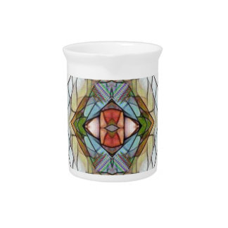 Cool Artistic Modern Stained Glass Pattern Pitcher