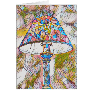 Cool Artistic Stained Glass Lamp Shade Card
