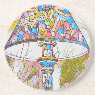 Cool Artistic Stained Glass Lamp Shade Drink Coasters