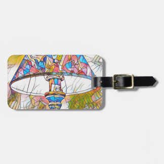 Cool Artistic Stained Glass Lamp Shade Luggage Tag