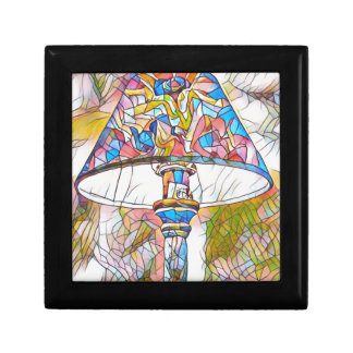 Cool Artistic Stained Glass Lamp Shade Small Square Gift Box
