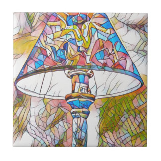 Cool Artistic Stained Glass Lamp Shade Small Square Tile