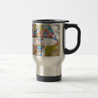 Cool Artistic Stained Glass Lamp Shade Travel Mug