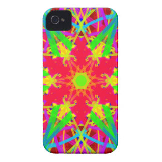 Cool Artistic Star Shaped Psychedelic Pattern iPhone 4 Case-Mate Case