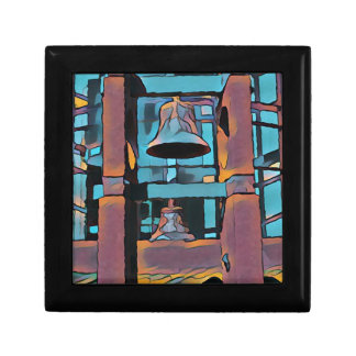 Cool Artistic Turquoise Magenta Hanging Bells Gift Box