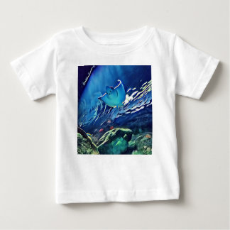 Cool Artistic Underside of Stingray Baby T-Shirt