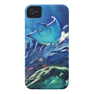 Cool Artistic Underside of Stingray iPhone 4 Case-Mate Cases