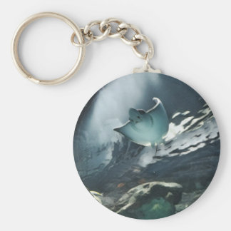Cool Artistic Underside of Stingray Key Ring