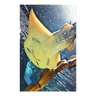 Cool Artistic Underside of Stingray Personalized Stationery