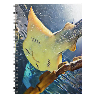Cool Artistic Underside of Stingray Spiral Note Books