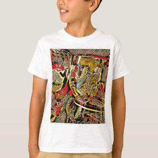 Cool Artsy Modern Wine Glass Decor T-Shirt