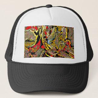 Cool Artsy Modern Wine Glass Decor Trucker Hat