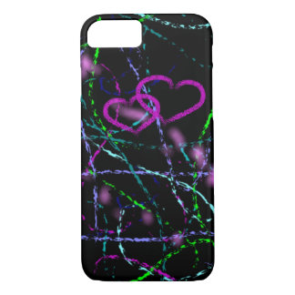 Cool Artsy Purple Heart iPhone 8/7 Case