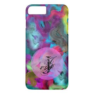 Cool Artsy Watercolor | Monogram iPhone 8 Plus/7 Plus Case