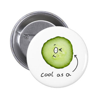 cool as a cucumber badge
