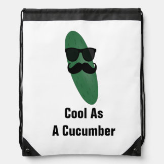 Cool As A Cucumber Drawstring backpack