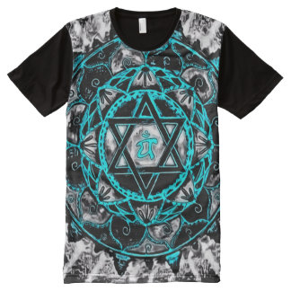 Cool Astral Mandala Art All-Over Print T-Shirt