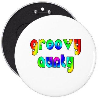 Cool Aunts Christmas & Birthdays : Groovy Aunty 6 Cm Round Badge